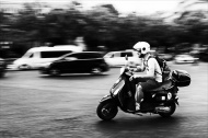 Vespa on the run